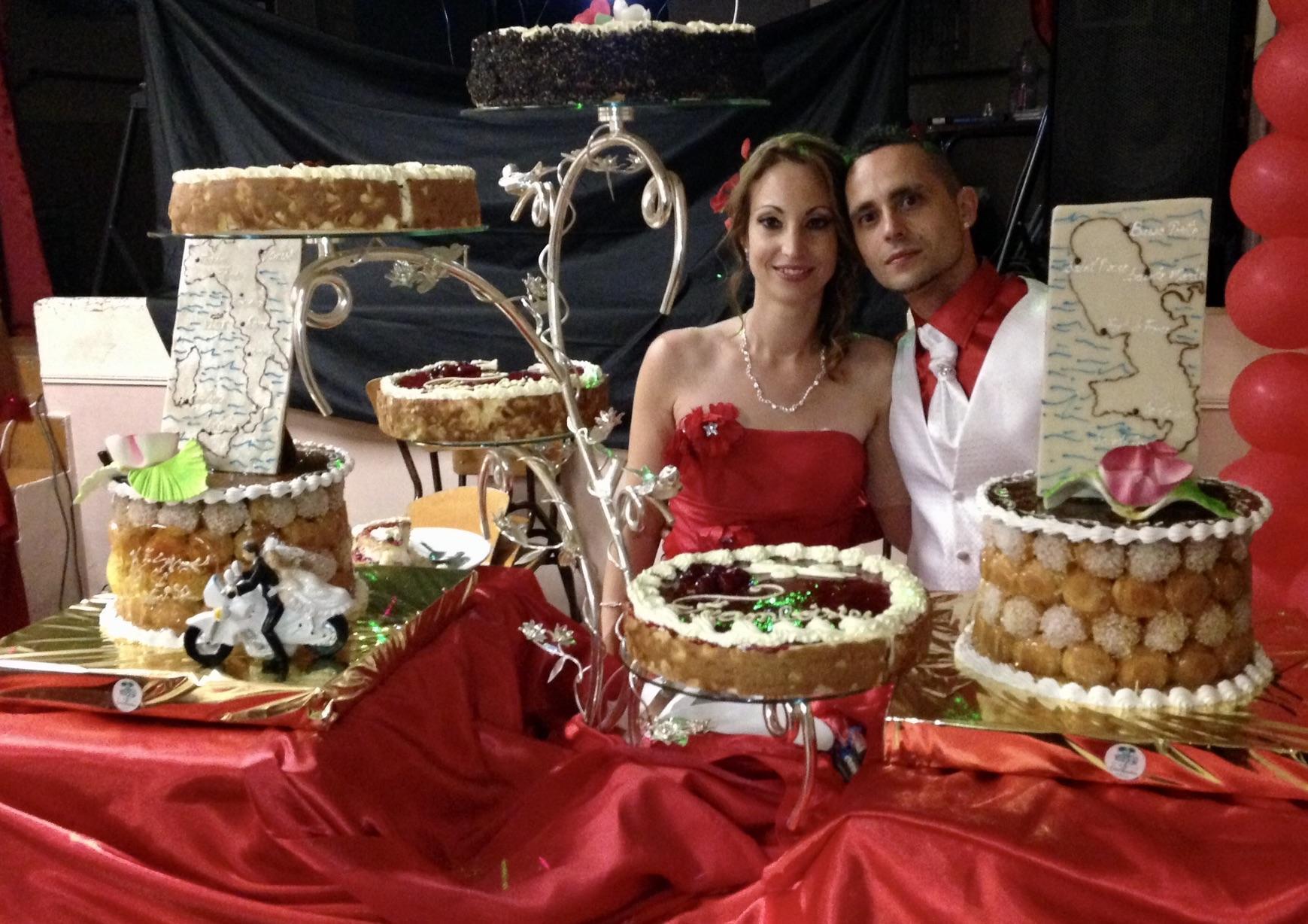 Cascade d'Entremets des mariés
